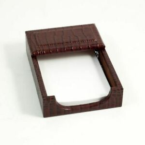 Bey Berk Brown croco Leather 4 x6 Memo Holder