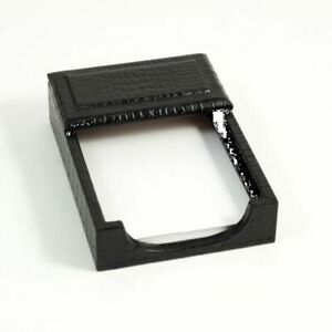 Bey Berk Black croco Leather 4 x6 Memo Holder