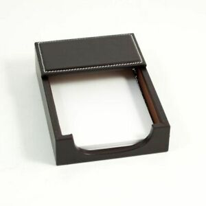 New Bey Berk Coco Brown Leather 4 x6 Memo Holder