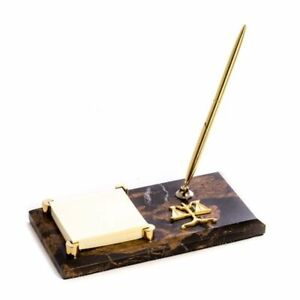 Bey Berk Legal tiger Eye Memo Pad Holder Pen