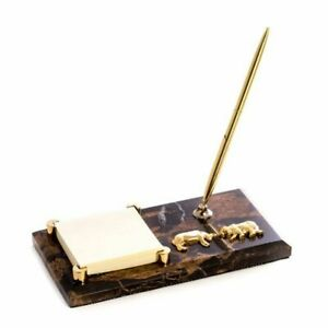 Bey Berk Stock Market tiger Eye Memo Pad Holder Pen