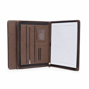 New Bey Berk Brown Multi compartment Business Padfolio portfolio
