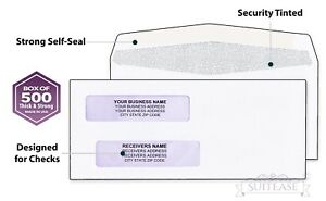 1000 quickbooks check envelopes Strong Gum Seal Double window 8 5 8 X 3 5 8