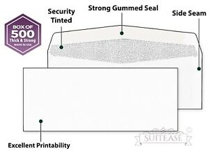 1000 Security Envelopes Windowless Design Personal And Business Mailing