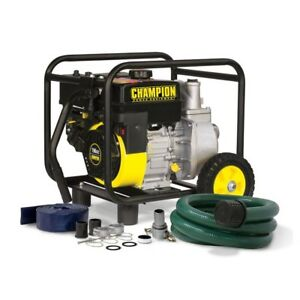 Champion 2 In Gas powered Semi trash Water Transfer Pump Hose Wheel Kit