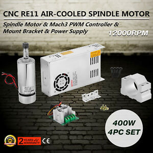 4pcs Er11 400w Cnc Brushed Spindle Motor Controller Kit For Engraving Usa