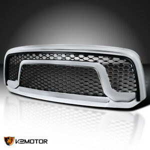 2013 2018 Dodge Ram 1500 Chrome Bumper Honeycomb Rebel Style Hood Grill Grille