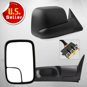 For 1994 1997 Dodge Ram 1500 2500 3500 Towing Mirrors Power W Brackets 94 97
