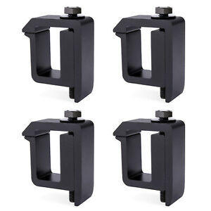 Truck Bed Contractor Set Of 4 Aluminum Truck Camper Shell Mounting Clamps Black