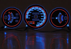 92 95 Honda Civic Plasma Tacho Glow Gauge Shift Dials Eg Eh Ej1 Ej2 Without Rpm