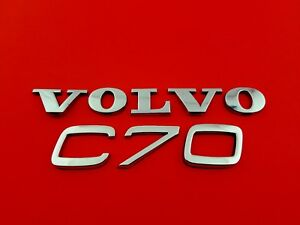 2002 Volvo C70 Rear Lid Chrome Emblem Badge Sign Set Oem 98 99 00 01 02 03 04 05