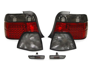Red smoke Led Tail Light corner Signal Side Marker For 97 99 Bmw E36 3d 318ti