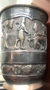 Antique Rare Old 925 Sterling Silver Julep Cup 1800s Country Estate 190 Grams