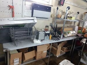 Stainless Steel Commercial Kitchen Work Food Prep 2 table 96 X 30 In
