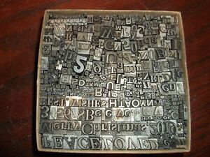 No 90 Vintage Lot Of 500 Pieces Letterpress Printers Lead Type Letters Numbers