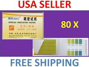1 Pack 80 Strips Of Ph 5 5 9 0 Special Indicator Paper Test Lab Water Soil