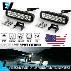 2x 6inch 36w Cree Led Work Light Bar Flood Offroad Atv Fog Truck Lamp 4wd 12v 6