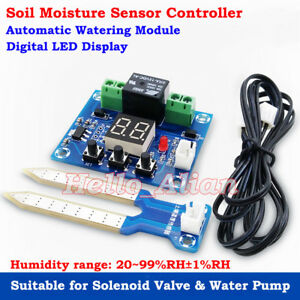 Digital Dc 12v Soil Moisture Sensor Humidity Relay Controller Automatic Watering