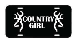 Country Girl License Plate Car Truck Tag Vanity Plate Dodge Chevy Ford