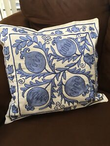 Beautiful Uzbek Vintage Handmade Embroidery Suzani Pillowcase