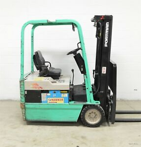 Mitsubishi 3000 Lb 36v Electric 3 Wheel Forklift Cat Fbs15 Three Wheeler
