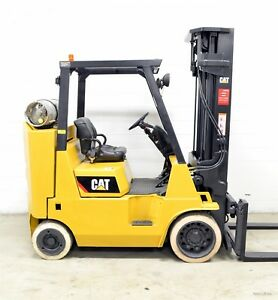 Caterpillar 8000 Lb Lpg Forklift 8 000 Boxcar Cat Triple Side Shift