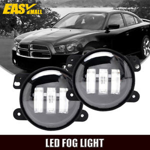 Pair 4 Led Lights Driving Fog Lamps Fit 2011 2012 2013 2014 Dodge Charger