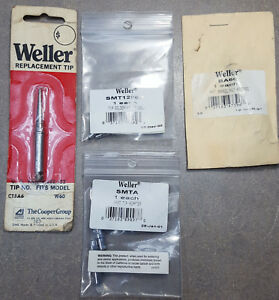 Lot Of 6 Weller Parts Tip Tip Adapter Barrel Nut Assembly
