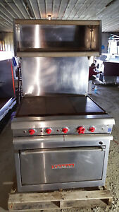 Vulcan 36 Flat Hot Top Griddle Range Vr2 W Shelf Oven Stove Commercial Kitchen