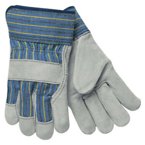 12 Pack Mcr Safety Industrial Work Gloves 1400 Xl Memphis Cotton Cowhide Wing 10