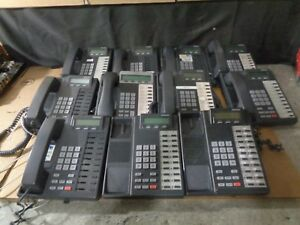Toshiba Strata Dkt 2010 Telephone Lot Of 11 2 Missibg Headsets