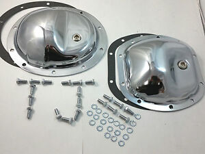 Chrome Steel Differential Cover Kit For Jeep Wrangler Tj 97 06 Fits Dana 30 35