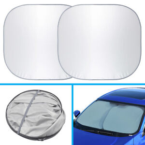 Motor Trend Large Pop Up Auto Sun Shade Heat Blocker For Car Suv Truck X 2