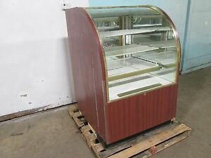 regal Hd Commercial Lighted Curved Glass Dry Bakery Merchandiser Display Case