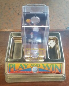 Rare Shoot To Thrill 25 Basketball Coin Shooter Tabletop Coin Bank Machine