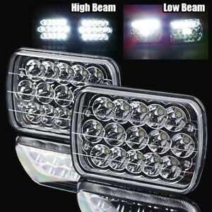 7x6 H6054 45w Epistar Led Chrome Crystal Sealed Beam Headlights Lamps Assembly