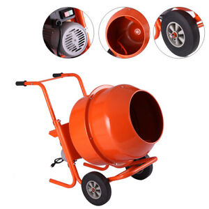 Portable 5cuft 1 2hp Electric Concrete Cement Mixer Barrow Machine Mixing Mortar