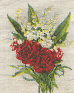 Vintage Antique Silk Applique Use In Crazy Quilt Block Flower Lily Carnation