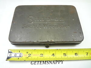 Vintage Snap On Metal Tool Storage Case For Ratchet Socket Extension Wwii Ww2