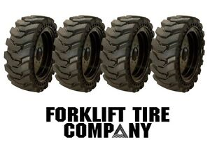 10x16 5 Skidsteer Solid Tires And Wheels set Of 4 31x10x20 Fits Bobcat 773
