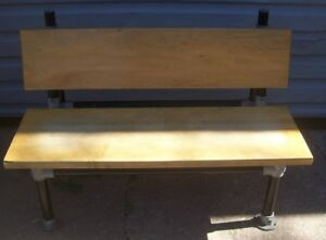 Store Display Fixtures Wood And Pipe Heavy Commercial Grade Bench 48 Long