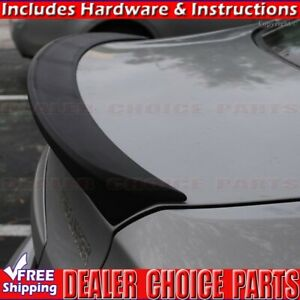For 2012 2016 Hyundai Accent 4dr Matte Black Lip Factory Style Rear Spoiler Wing