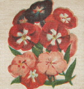 Vintage Antique Silk Applique Use In Crazy Quilt Block Phlox Flower Zira