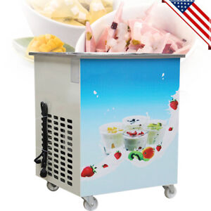 Commercial Electric Fried Rolled Ice Cream Yogurt Roll Machine Single Pan 36cm