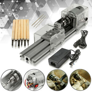 Lb 01 Mini Lathe Beads Machine Wood Working Diy Lathe Polishing Drill Raitool