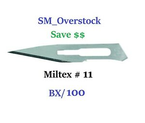 Integra Miltex 4 111 11 Carbon Steel Surgical Blades 100 bx Sterile Kai Medical