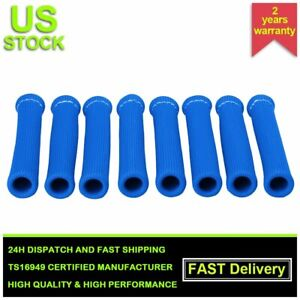 2500 Spark Plug Wire Boots Protector Sleeve Heat Shield Cover For Ls1 ls2 Blue