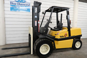 Yale Gdp100 10 000 Diesel Pneumatic Tire Forklift 2 Stage Only 3 532 Hours