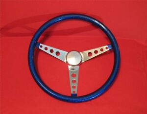 Mooneyes Blue Metal Flake Steering Wheel 15 New Gs280cmbl