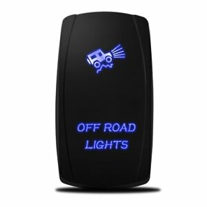 Blue Led Off Road Lights Laser Rocker Switch On off Led Light 20a 12v 5pin